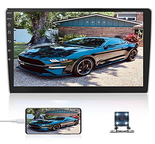 10.1Inch 2.5D HD Double Din Car Stereo Radio Receiver, Android Touch Screen MP5...