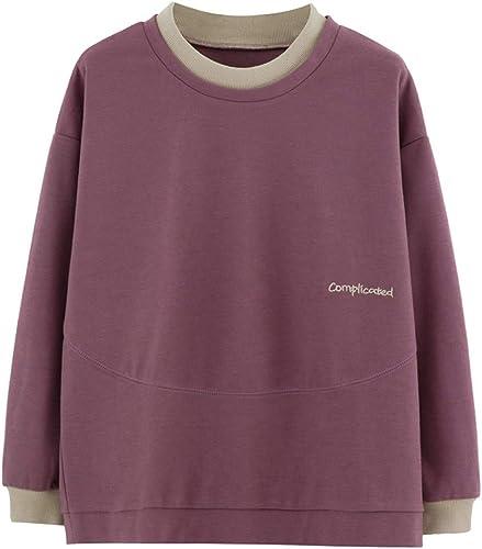 SADF Pull Ample, Nouveau Printemps Chemise Décontractée pour Femme, Chemise à Manches Longues pour Femmes, XL