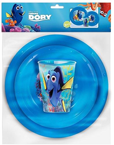 Disney Pixar Findet Dorie 3-teiliges Picknick-Set – Teller, Schüssel