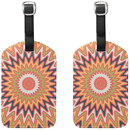 Etiquetas de Equipaje ópticas Vertigo Etiquetas de Viaje en Bolsa para Maleta de Equipaje 2 PCS