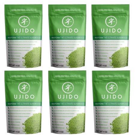 Ujido Japanese Matcha Green Tea Powder (4 oz) (Pack of 6)