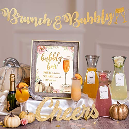 Mimosa Bar Kit | Fall Party Decorations, Little Pumpkin Baby Shower Games, Friendsgiving Party Supplies, Fall Birthday Cocktail Party, Fall Bridal Shower Sign Fall Gender Reveal Brunch Decor (Pumpkin)