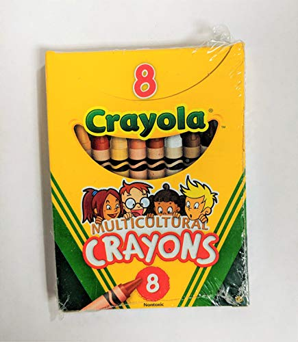 Crayola Multicultural Crayons, 8 Skin Tone Colors, 12 Pack