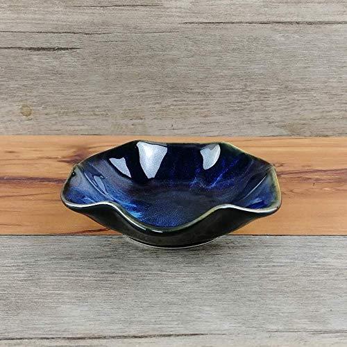 YAeele Europe du Nord Creative Arts de la Table Japonaise Drageoir Accueil Assaisonnement vinaigre Plat Vaisselle en céramique Vaisselle Os Vaisselle Plaque Snack Vaisselle 4,5 Pouces Assiette