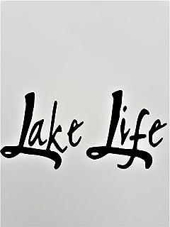 Lake Life (2 Pack) Fishing Camping Boating Vinyl Decal Sticker|Black|Cars Trucks SUV Laptops Boats Canoe Kayak Wall Art|5....