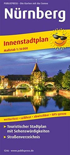 Nürnberg: Touristischer Innenstadtplan mit Sehenswürdigkeiten und Straßenverzeichnis. 1:16000 (Stadtplan: SP)