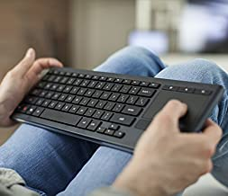 Logitech K830 Illuminated Living-Room Wireless Keyboard and Touchpad for Internet-Connected TVs (Unifying and Bluetooth) (...
