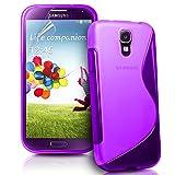 ebestStar - Funda Compatible con Samsung S4 Mini Galaxy GT-i9190, i9192, i9195 Carcasa Gel Silicona Gel TPU Motivo S-línea, S-Line Case Cover, Violeta [Aparato: 124.6 x 61.3 x 8.9mm, 4.3'']