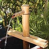 Garten Brunnen Outdoor, Bambusbrunnen Dekor, Bambus Wasserspiel, Gartendekoration, Wasserfall, Pumpe, Japanische Gartendekoration