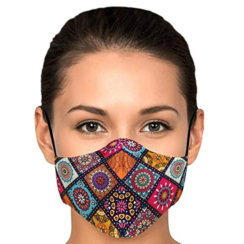 eiuEQIU 3D Mund und Nasenschutz Waschbar Multifunktionstuch, Staubdichte Winddichte Foggy Haze Bandans Halstuch Sommerschal für Herren, Damen, Kinder