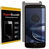 [2-Pack] For Motorola Moto Z Force / Moto Z Force Droid - SuperGuardZ Privacy Anti-Spy Screen Protector, Anti-Glare, Anti-Scratch, Anti-Bubble [Lifetime Replacement]
