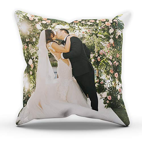 Personalised Custom Cushion Cover Photo Pillow Cushions Your Picture Cover Case Covers Printed Gifts Ideas Personalised Gifts Your Name Cushion Covers (Cushion Cover Only) White