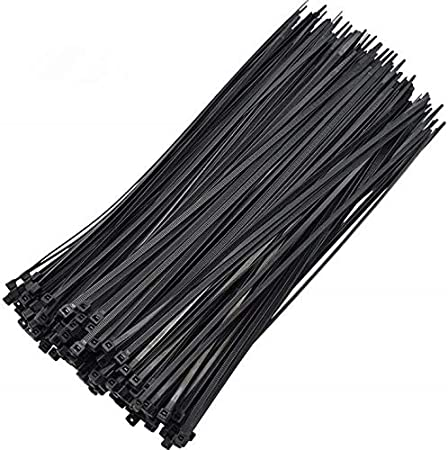 12 inches 250 Pieces per Pack. Cable tiesMultifunctional Anti-UV Black Cable Ties,12 inches