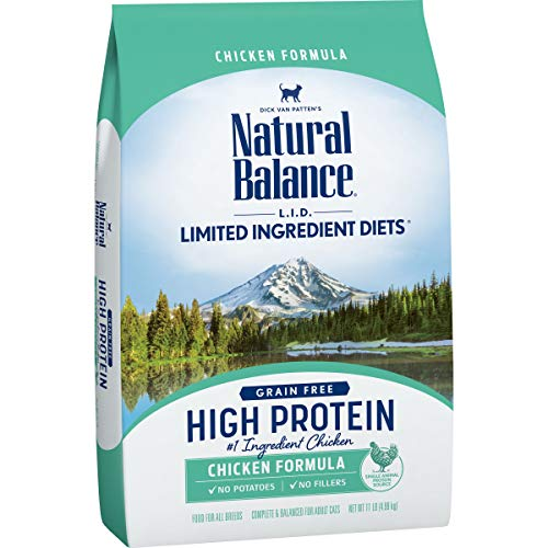 Natural Balance L.I.D. Limited Ingredient Diets High Protein Dry Cat Food, Chicken Formula, 11 Pounds, Grain Free