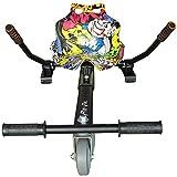 Run & Roll Graffiti 2 Hoverboard, Unisex niños, Negro, L
