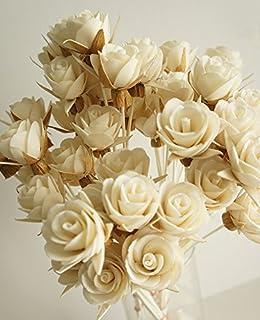 エキゾチックエレガンスのセット50ローズデザインSola Flowerスティックfor Aroma Diffuser直径1.5。」