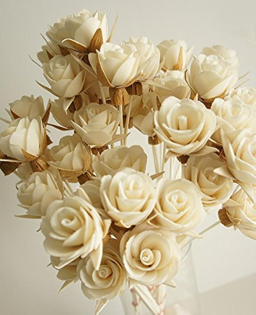 パッケージメッシュ不満エキゾチックエレガンスのセット50ローズデザインSola Flowerスティックfor Aroma Diffuser直径1.5。」