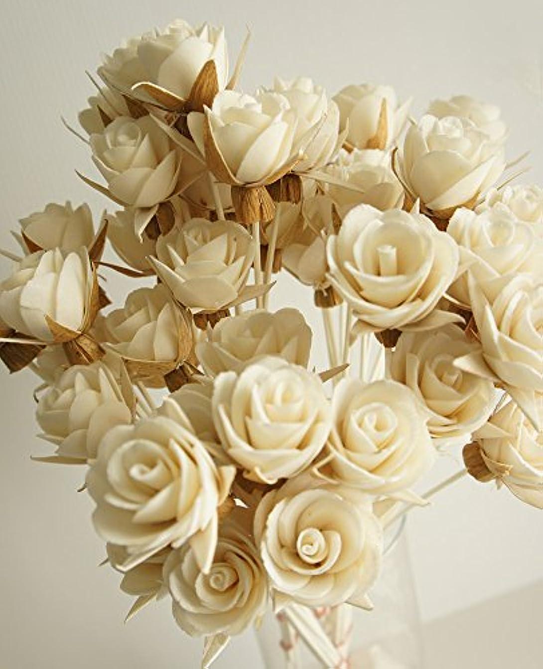 フック審判現実的エキゾチックエレガンスのセット50ローズデザインSola Flowerスティックfor Aroma Diffuser直径1.5。」