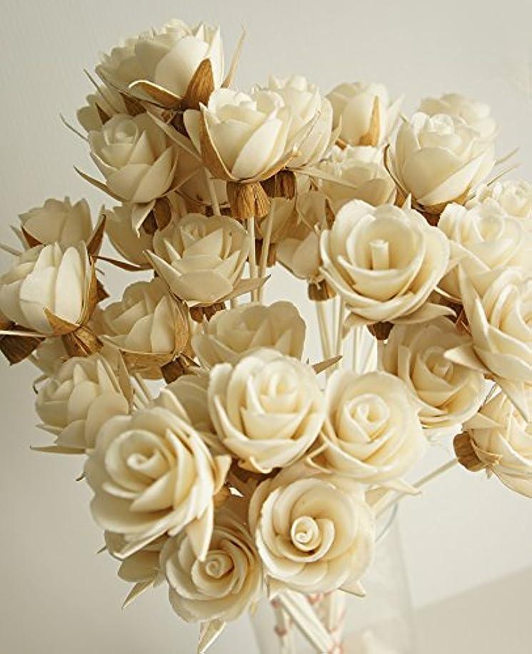 透明に流すエキゾチックエレガンスのセット50ローズデザインSola Flowerスティックfor Aroma Diffuser直径1.5。」