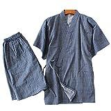 Batas Estilo japonés Kimono Pijama Traje Bata Conjunto para Unisex [Talla L]