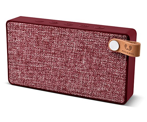 Fresh 'n Rebel Speaker Rockbox Slice Fabriq Edition, Altoparlante Bluetooth Tascabile 6W, Extra Bass, Vivavoce, Rosso ruby