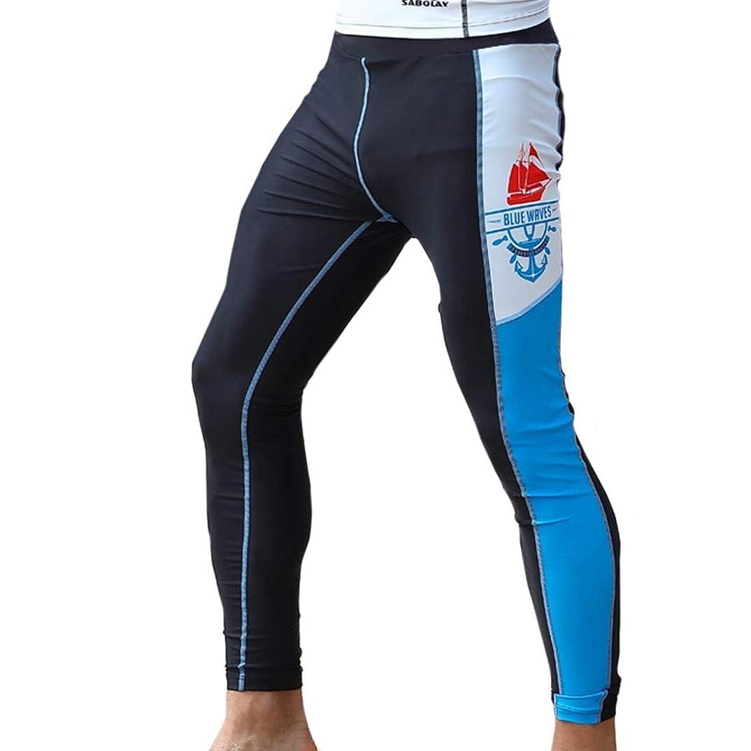 蛾従来の記録Kainuoo メンズネオプレンロングウェットスーツパンツ用ウォータースポーツスキューバダイビングシュノーケリングパドリングサーフィン水泳カヌーレギンス (Color : Blue, Size : L)