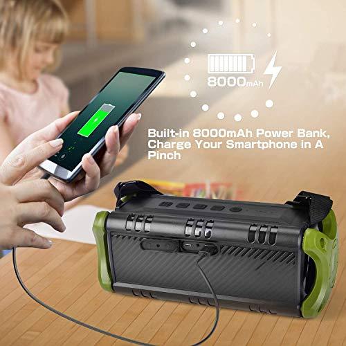 [Upgraded] 50W(70W Peak) Bluetooth Speaker 5.0, W-KING IPX6 Waterproof Wireless Outdoor Portable, TF Card Enabled, TWS, DSP, NFC, Powerful Rich Bass Loud Stereo Built-in 8000mAh Battery Power Bank