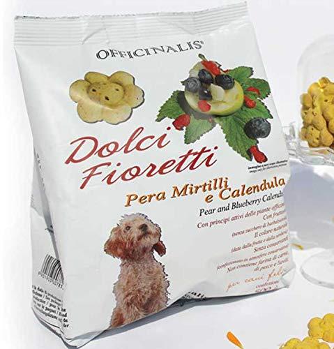 Officinalis Dolci Fioretti Biscotti Naturali per Cani Pera, Mirtilli e Calendula Sacchetto 500 Gr