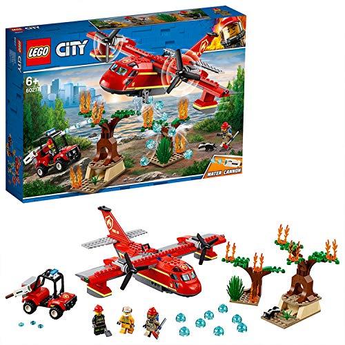 LEGO City Fire - Avión de Bomberos, Juguete Creativo de Construcción con Avión y Vehículo para Niños a Partir de 6 Años, Incluye Minifiguras de Bomberos con Diferentes Trajes y Herramientas (60217)