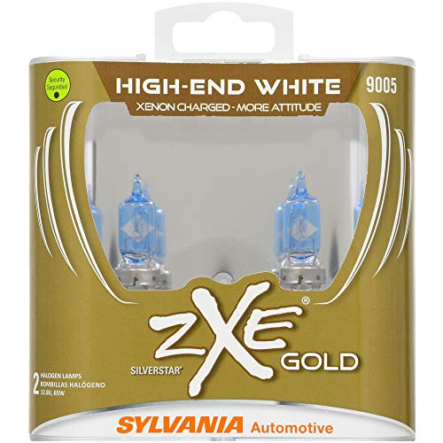 SYLVANIA - 9005 (HB3) SilverStar zXe GOLD High Performance Halogen Headlight Bulb - Bright White Light Output, Best HID Alternative,...