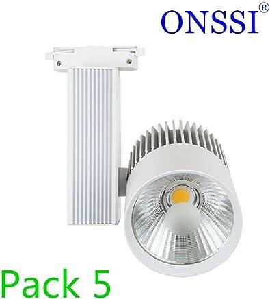 Foco LED Dora 30W Blanco para Carril Trif/ásico Blanco Fr/ío 5000K efectoLED