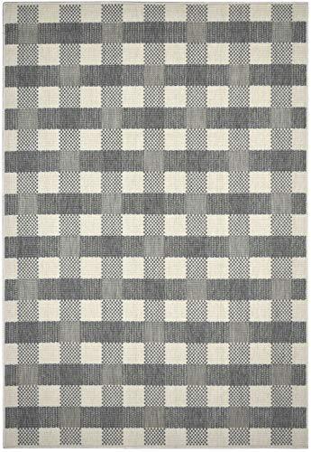 In- und Outdoor-Teppich Checkered Grey 140x200cm für Innen und Außen