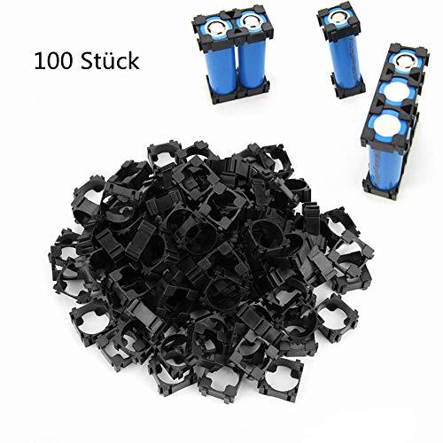 FTVOGUE 100 Stücke 18650 Li-Ion Batteriehalter Stehen Zylindrische Batterie Pack Halterung Sicherheit Anti Vibration Kunststoff Fall Box