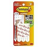 3M コマンド タブ キレイにはがせる 両面テープ Mサイズ 耐荷重1kg 12枚 CM3PM