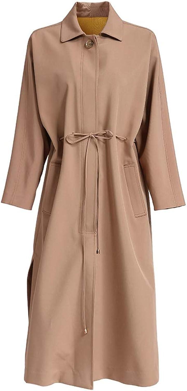 LHHJ Coat Chemical Fiber Blended Casual Long Sleeve Brown Ladies Jacket