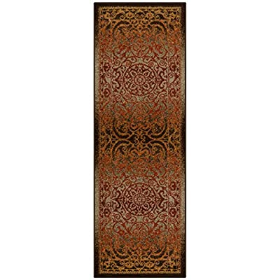 Maples Rugs Pelham Vintage Runner Rug Non Slip Hallway Entry Carpet [Made in USA], 2 x 6, Rustique - 2 x 6 Hallway Runner Rug - Traditional Vintage style with a dual-colored design that gives off a luster-like sheen. Timeless Design with 100% Nylon Pile for Added Durability and Fade Resistance 0.44 Inch Pile Height: Low Profile to be Placed in Any Setting. Easy Care and Machine Washable - runner-rugs, entryway-furniture-decor, entryway-laundry-room - 51JR28DO0KL. SS400  -