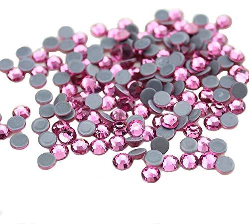Piedras de estrás con el reverso plano y fijación con calor de Jollin, rosa (b), ss20