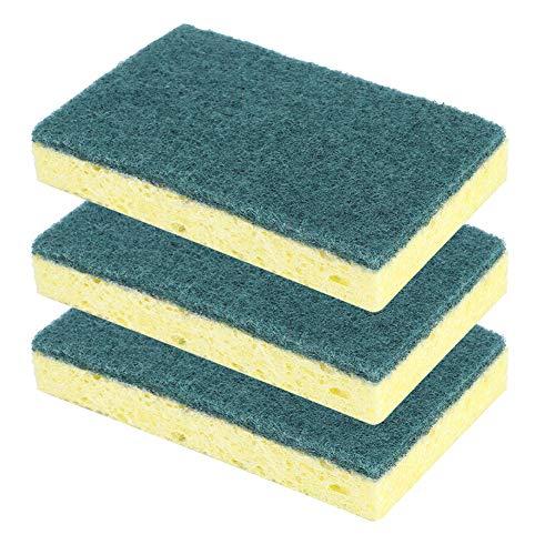 Cadeau D'Avril No Chips Not Stick Oil Dishwashing Sponge, Éponge de Cuisine, de Haute qualité Pratique pour Laver la Vaisselle pour Laver Les casseroles