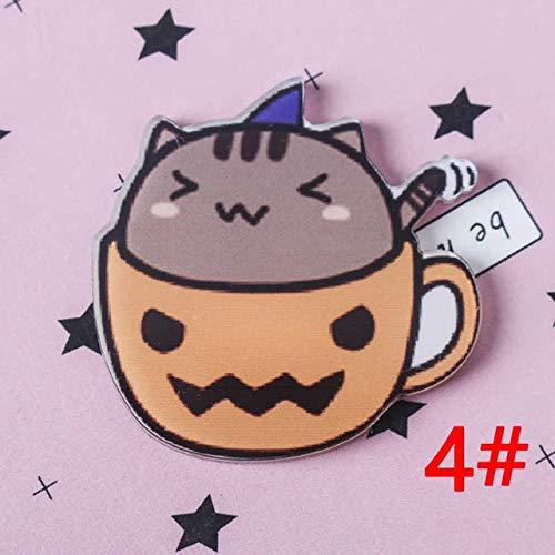 GDLGDLHand Gezeichnete Abzeichen Auf Katzenbecher Serie Rucksack Acryl Abzeichen Abzeichen Symbol Abzeichen Brosche 4