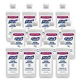 PURELL Advanced Hand Sanitizer Refreshing Gel, Clean Scent, 16 fl oz Flip Cap Bottle (Pack of 12) - 9636-12-S