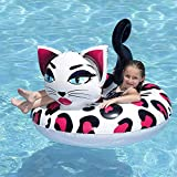 WZXHN Swimming Accessories Leopard Cat Giant Balloon Animal Pool Float Funny Inflatable Vinyl Summer Pool Beach Toy Great Gift