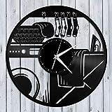 Lavandería Reloj de Pared de Vinilo Amigos Decoración Vintage para el hogar Diseño Vintage Oficina Bar Sala Decoración para el hogar Diseño para niño u Hombre -