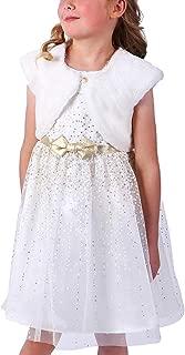 Jona Michelle Girls Formal Party Tulle Dress Ivory W Fur Jacket 3T