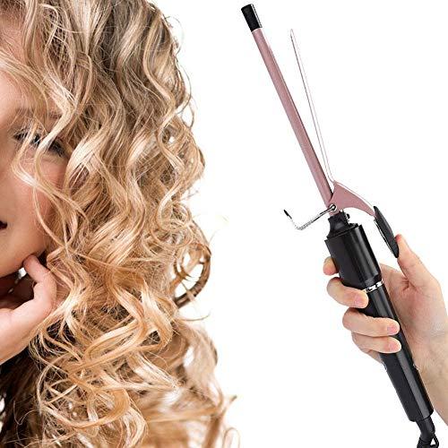 Rizador, rizos pequeños de 9 mm, pinza de pelo profesional con rizador...
