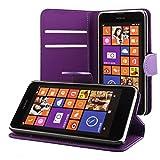 ECENCE Nokia Lumia 630/630 Dual SIM / 635 Coque de Protection Housse Pochette Wallet Case Pourpre + Film Protecteur ECRAN 41020302