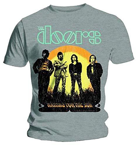 The Doors - Waiting for The Sun - Officiel T-Shirt pour Hommes - Gris, Large