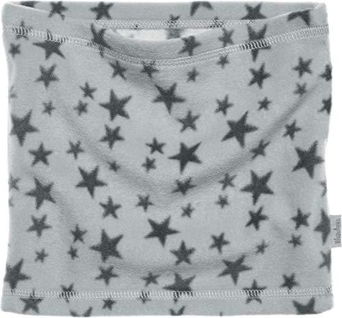 Playshoes Kinder-Unisex atmungsaktiv, mit Sternen-Muster softer Rundschal geeignet für kalte Tage, grau, one size
