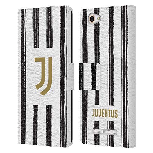 Head Hülle Designs Offizielle Juventus Football Club Home 2020/21 Match Kit Leder Brieftaschen Huelle kompatibel mit Wileyfox Spark X