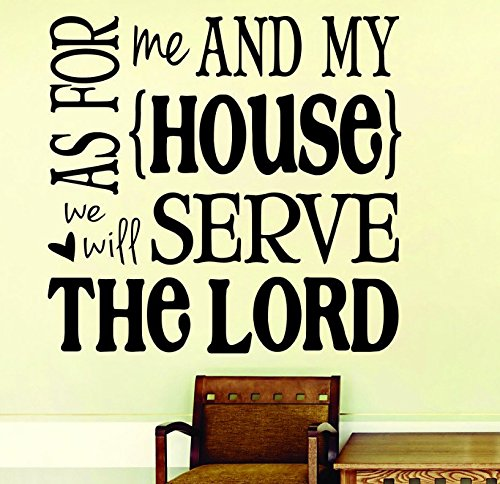 Design with Vinyl RAD 1101 3'As for Me and My House We Will Serve The Lord Bible KJV Quote' Vinyl Wall Decal, 20' x 20', Black