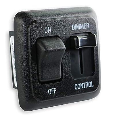 12 Volt DC Dimmer Switch for LED, Halogen, Incandescent - RV, Auto, Truck, Marine, and Strip Lighting (Large Slider, Black)